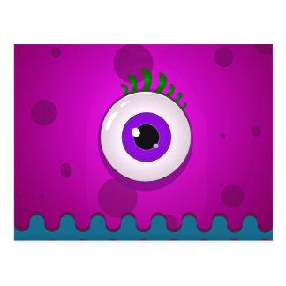 Funny monster eye postcard