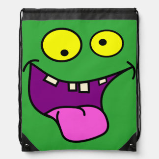 funny monster face,kids drawstring bag