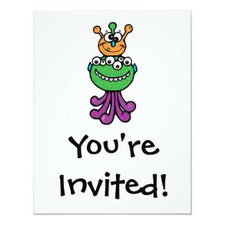 "funny monster 4.25"" x 5.5"" invitation card"