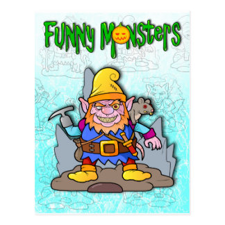 funny monster postcard