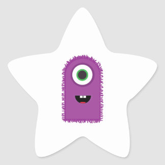 Funny Monster Star Sticker