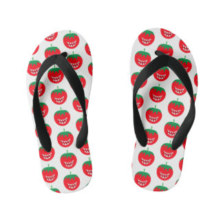 Funny monster tomato kid's flip flops