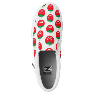 Funny  monster tomato Slip-On sneakers