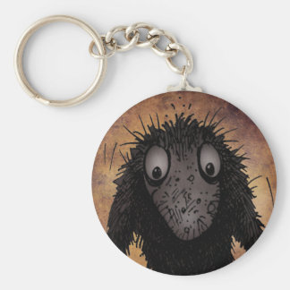 Funny Monster Troll Basic Round Button Keychain