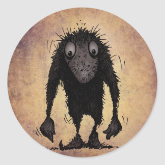 Funny Monster Troll Round Stickers