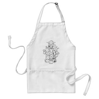 funny monsters adult apron
