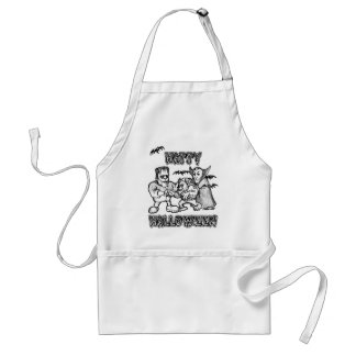 Funny Monsters - Happy Halloween Adult Apron