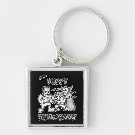 Funny Monsters - Happy Halloween Keychain