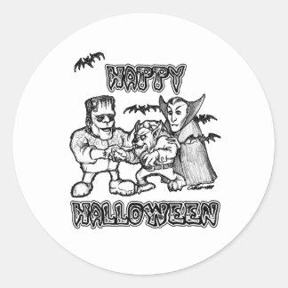 Funny Monsters - Happy Halloween Sticker