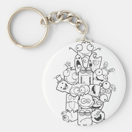 funny monsters keychain