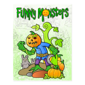 funny monsters postcard