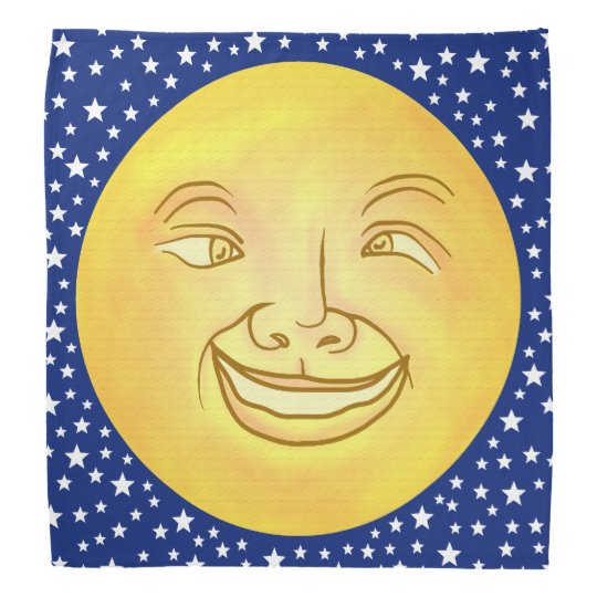 Funny Moon Man Outer Space Vintage Kerchiefs
