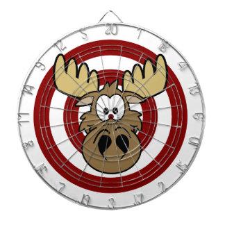 Funny Moose Eye Red Target Dart Board