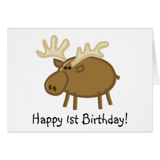 Funny Moose on White Card