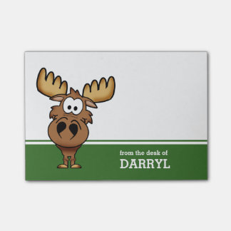 Funny Moose Personalized Post-it Notes