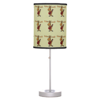 Funny Moose Playing Red Guitar lamp