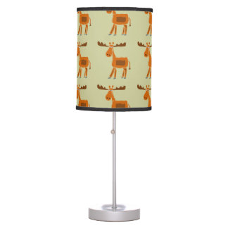 Funny Moose Primitive Art Lamp