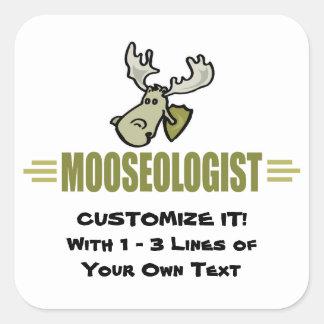 Funny Moose Square Sticker