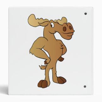 Funny moose vinyl binders