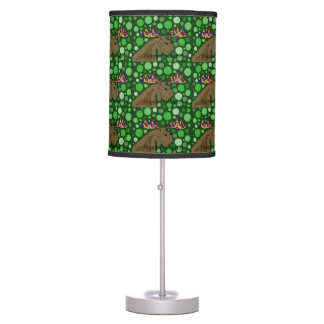 Funny Moose with Christmas Lights Abstract Desk Lamp