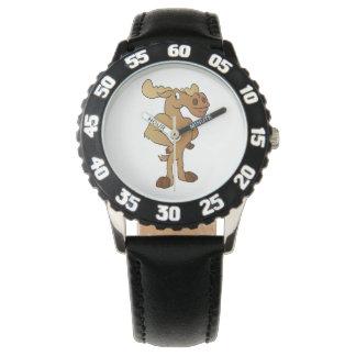 Funny moose wrist watch