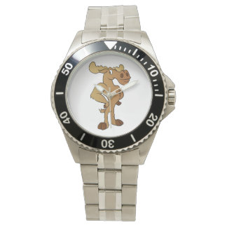 Funny moose wrist watches