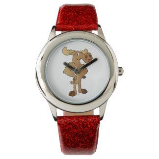 Funny moose wristwatch