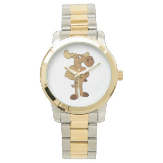 Funny moose wristwatches