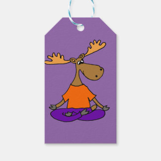 Funny Moose Yoga Art Gift Tags
