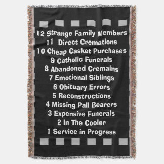 Funny Mortician Funeral Director Woven Blanket Throw