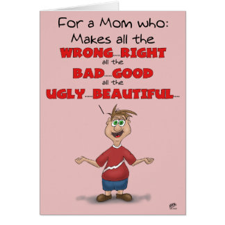 Funny Mothers Day Cards: All the Wrong Right Card
