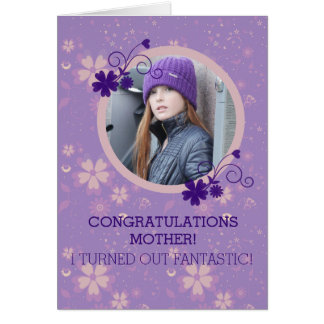 Funny Mother's Day photo gift greeting card