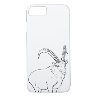Funny Mountain Goat Drawing Animal Art Design Case-Mate iPhone Case