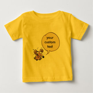 funny mouse with customizable text speech bubble baby T-Shirt