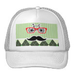 Funny Moustache; Green Argyle