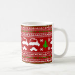 Funny Moustache  Ugly Christmas Sweater