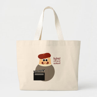 Funny Movie Director Large Tote Bag