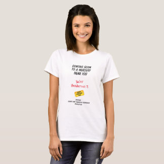 Funny Movie Theme Baby 2 Announcement - T-Shirt