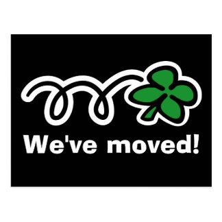 Funny moving postcards with lucky 4 leaf clover
