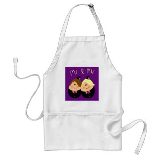 Funny Mr and Mr wedding design for Gay Men - eggs Standard Apron