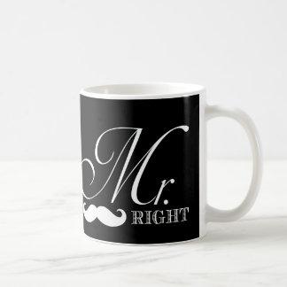 Funny Mr. Right Classic White Coffee Mug