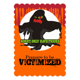 """Funny muck sewer monster Halloween trick or treat 5"""" X 7"""" Invitation Card"""