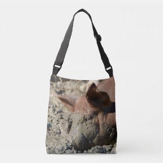 Funny Muddy Pig Face Crossbody Bag