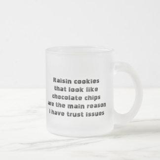 Funny mug about deceitful cookies