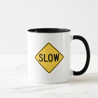 """Funny Mug """"I work at two speeds SLOW and SLOWER"""""""
