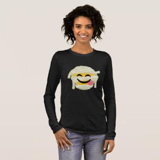 Funny Mummy Bleh Emoji Halloween Long Sleeve T-Shirt