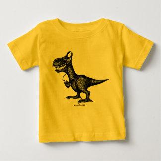 Funny music dinosaur baby t-shirt