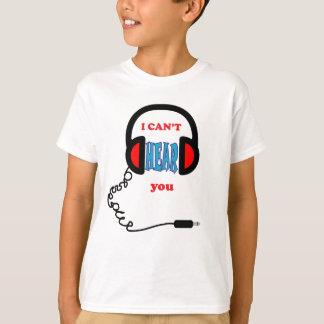 Funny Music Headphones T-Shirt