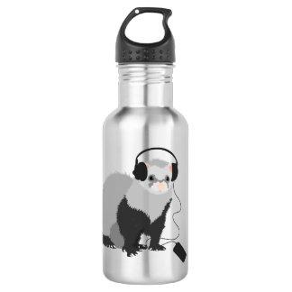 Funny Music Lover Ferret 532 Ml Water Bottle