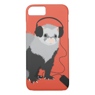 Funny Music Lover Ferret iPhone 8/7 Case